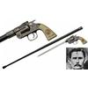 Canne épée JESSE JAMES revolver 93,5cm de marche