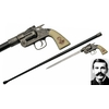 Canne épée DOC HOLLIDAY revolver 93,5cm de marche