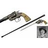 Canne épée BILLY THE KID revolver 93,5cm de marche