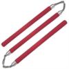 Nunchaku 3 batons mousse - rouge
