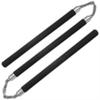 Nunchaku 3 bâtons entraînement en mousse compacte - noir