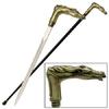 Canne épée 93cm de marche - Laiton cheval