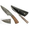 Poignard 23cm mitre lame damas - couteau