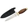 Dague couteau de botte 19cm - bois et laiton