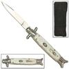 Couteau automatique Italien à cran d'arret 22cm - Nacré