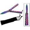 Balisong couteau papillon rainbow 16cm - pochette incluse