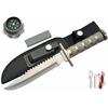 Poignard couteau 29cm tactique gris - kit survie