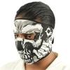 Masque en néoprène airsoft moto - Squelette revolver