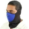 Masque en néoprène airsoft moto - Design noir et bleu