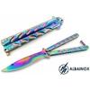 Balisong rainbow 22,5cm couteau papillon + pochette