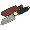 Poignard 20,5cm lame DAMAS - Couteau corne et laiton