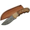 Poignard 21cm lame DAMAS - Couteau en bois et os