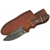 Poignard 21cm lame DAMAS - Couteau en bois et micarta