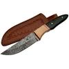 Poignard 22cm lame DAMAS - Couteau en bois et corne