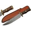 Grand poignard 40cm lame DAMAS - Couteau bois et laiton