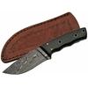 Poignard 20,4cm lame DAMAS - Couteau bowie en corne