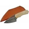 Poignard 15,5cm lame DAMAS - Couteau compact en os