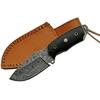 Poignard couteau 17,9cm lame DAMAS - Damascus Buffalo