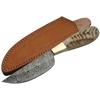 Poignard couteau 23cm lame DAMAS - Damascus corne bélier