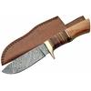 Poignard couteau 24,8cm lame DAMAS - Damascus bois cuir