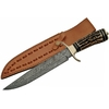 Grand poignard couteau 35,5cm DAMAS - Damascus bois cerf