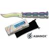 Balisong rainbow 22,2cm couteau papillon + pochette