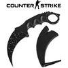 Couteau CS GO Counter Strike 18,7cm - noir blanc tactique