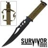 Poignard de survie 28cm full tang - Couteau noir