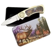 Coffret collector couteau pliant - Collection Cerf biche