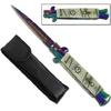 Couteau Italien automatique 22cm à cran d'arret - Titane