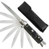 Couteau Italien automatique cran d'arret 22cm - Noir marbré