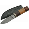 Poignard couteau 23cm lame DAMAS - Bois et laiton