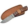 Poignard couteau 22,6cm lame DAMAS - Bois d'olivier
