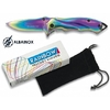 Couteau pliant ALBAINOX titane rainbow 15,8cm + pochette