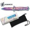 Couteau pliant 16cm RAINBOW + pochette - ALBAINOX