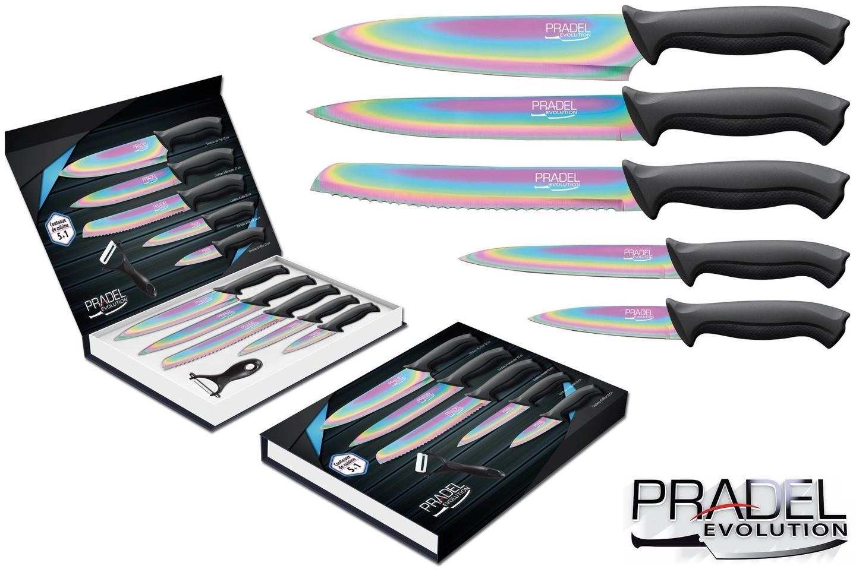 Coffret couteaux pradel couteau de cuisine table titane multi - Pradel couteau cuisine ...