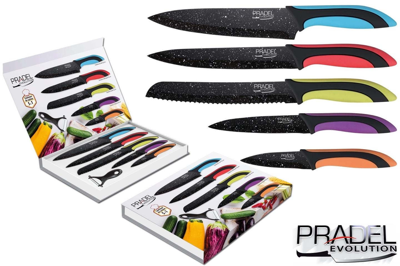 Coffret couteaux pradel couteau de cuisine table pierre noire - Coffret couteaux de cuisine ...