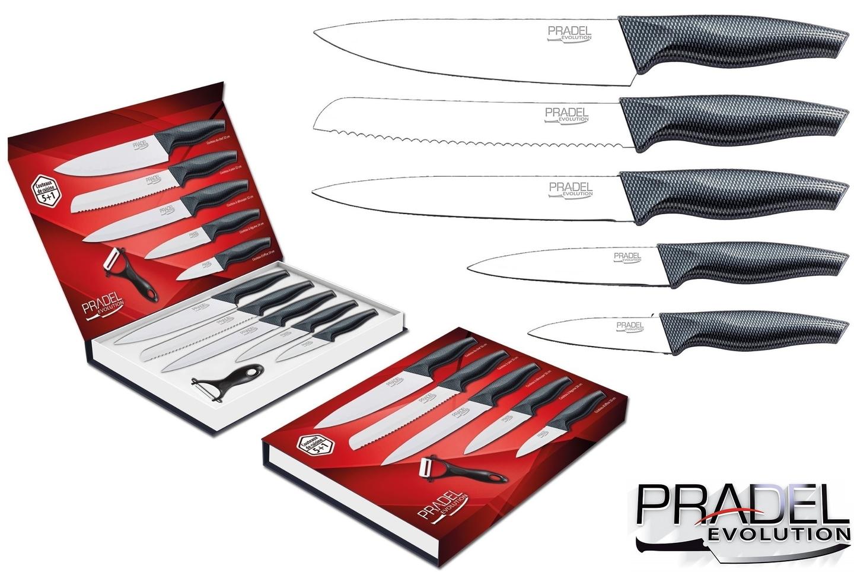 Coffret couteaux pradel couteau de cuisine table acier blanc - Coffret couteaux de cuisine ...