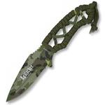 Couteau 20cm camouflage militaire - Full tang tout acier..