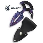 Dague push-dagger 12,7cm couteau - ALBAINOX