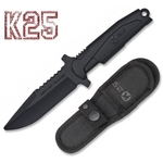 Poignard couteau d'entrainement 23,5cm combat noir K25