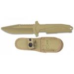 Poignard couteau dentrainement 23,5cm combat sable K25.