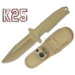 Poignard couteau d'entrainement 23,5cm combat sable K25
