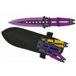 3 Couteaux de lancer 19cm multicolore ALBAINOX.