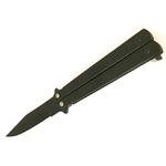 Balisong couteau papillon 22cm Tricks Noir..