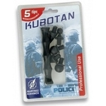 Kubotan baton 12cm + 5 embouts - mini matraque.