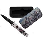 Coffret couteau LES TEMPLIERS 20,7cm collection