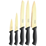 Coffret couteaux PRADEL couteau de cuisine table - Titane doré..