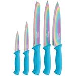 Coffret couteaux PRADEL couteau de cuisine table - Titane multi bleu..