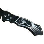 Couteau automatique 23,8cm à cran darrêt SCORPION noir.